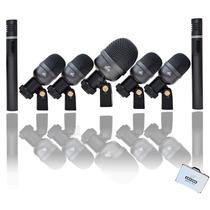 Kit De Microfones Bateria Arcano Am-7a Maleta