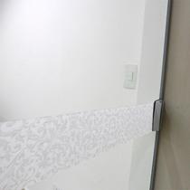 Faixa Adesivo Jateado P/ Portas De Vidro Arabesco 10x100cm