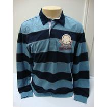 Ref 86-camiseta Beagle Masculina Polo Listrada Azul