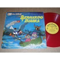 Bernardo Y Bianca Color Rojo Disney El Cuento Lp Acetato