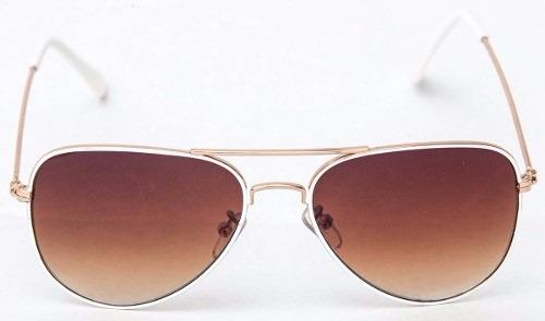 3598ddd0a Óculos Sol Modelo Aviador Infantil Marrom C/dourado Crianças - R$ 31 ...