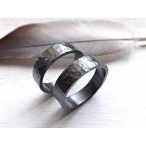 Argollas Matrimonio Plata Negra 925 Envio Gratis