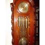 Relógio Antigo Pedestal Alemão Kieninger Banho Ouro Perfeito