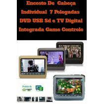 Tela De Encostos Individual Dvd Usb Sd Tv Digital Game