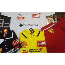 Kit 5 Camisa Polo Ferrari Masculina Bordada