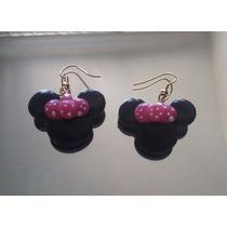 Hermosos Aretes De Mimi O Minnie Mouse Recuerdos Cumple Bebe