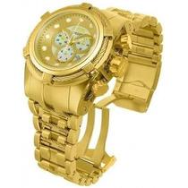 Relógio Invicta Bolt Zeus 12738 Dourado Com Caixa