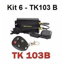 Kit 6 Rastreadores Gps Bloqueador Veicular Tk-103b Controle