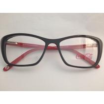 Armação Para Óculos Coca Cola Feminina Gatinho Cc2 3793