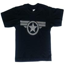 Camiseta Niños Capitán América - Súper Héroes