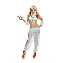 Disfraz De Bella Genio Arabe Aladino Belly Dance P/ Damas