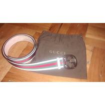 Correa Gucci Blanca, Verde Y Roja. Talla 100/40 O 113cm.