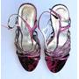 Sandalias Imitación Piel De Culebra Color Fucsia Talla 37