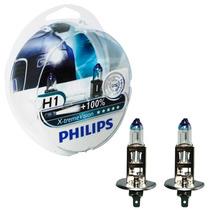 Kit Lâmpada Philips X-treme Vision H1 3350k 55w 12v (par)