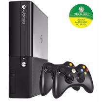 Xbox 360 4gb 2 Controles S/fio Nacional Super Slim Lacrado