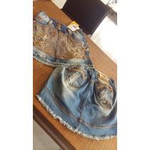 Mini Saia Rhero Jeans