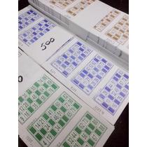1000 Cartones De Bingo Descartables 5 Colores