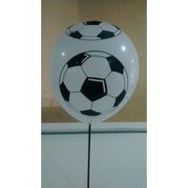 Balão/bexiga Bola De Futebol Nº 10 - 50 Unid.