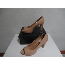 Zapatos Taco Alto Peep Toes Marquis