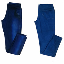 Calça Leg Jeans Fake Imita Jeans Plus Size Gg,g1 E G2