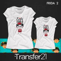Playeras Mamá E Hija Frida Kahlo, Transfer21 Combo En $498