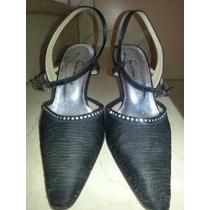 Zapatos Ferrandini Negros T36 Fiesta, Matrimonio, Graduacion