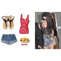 Blusas Camiseta Encaje Crochet Colores Moda Selena Gomez