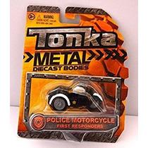 Juguete Tonka Metal Motocicleta De La Policía