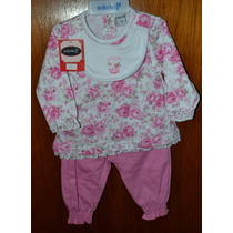 Babucha, Remera Y Babero Solcito T 1-3 Little Treasure.