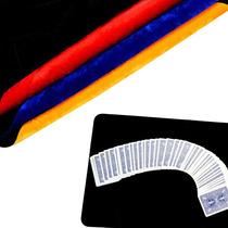 Trucos De Magia Tapete Close Up En Color Negro, Rojo Y Azul