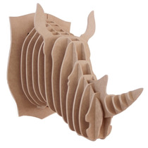 Rinoceronte Mdf6mm Cabeza Decorativa Animal Decoracion