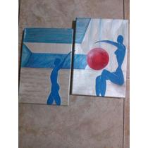 Cuadro Diptico Moderno Pintura Acrilica En Tela 29x20cm