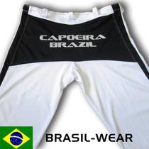 Calça De Capoeira Abada Branco E Preto Unisex Todos Tamanhos