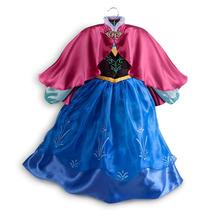 Vestido De La Princesa Anna De Frozen, Original De Disney