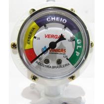 Regulador - Registro De Gas Glp Vergás C/ Manômetro + Brinde