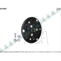 Kit Embreagem Compressor Gm Celta 1.0 8v 02/12 Frete Grátis