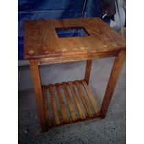 Mueble Mesa Para Lavabo Minimalista 100% Madera Vv4