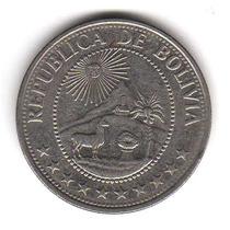 Moneda Bolivia 1 Peso Boliviano 1978 Km#192