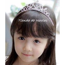 Tiara Corona Strass Metal Disfraz Princesas Comunion Cortejo