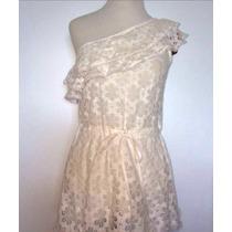 Mini Vestido Renda Lesie Branca - Mula Manca Um Ombro