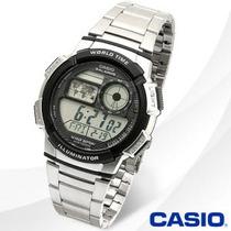 Reloj Casio Ae1000 Temporizador Cronografo Illuminator Acero
