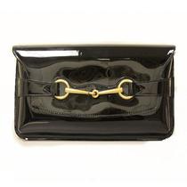 Cartera Gucci Horsebit Patent Leather Clutch Bag Femenino
