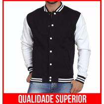 Jaqueta College Masculina Casaco Blusa Colegial Frio Lisa