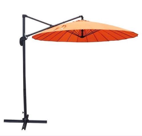 sombrilla colgante base cruz jardin patio umbrella