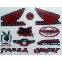 Cartela De Adesivo,moto,asa Honda,playboy Frete Grátis