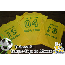 Camiseta Adulto Brasil Copa 2014 Personalizada Dalsassu´s