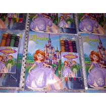 12 Invitacion Princesa Sofia Para Colorear Incluye Crayolas