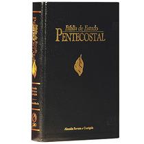 Bíblia De Estudo Pentecostal Média - Capa Preta De Luxo