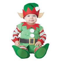 Disfraz Navidad Duende Ayudante De Santa Bebe Pino Angel