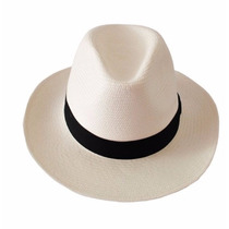 Chapéu Estilo Panamá Clássico Aba Longa Masculino Feminino